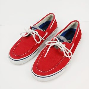 Sperry Red boat shoes